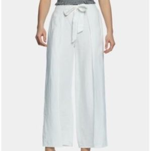 1. State Pants - 1.state Linen Wide-Leg Pants - Ultra White